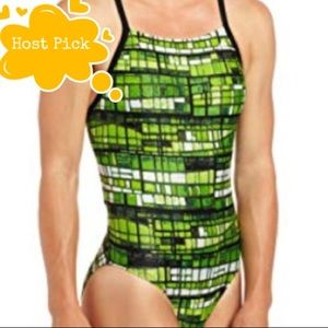 Adidas Swimsuit Stained Glass Vortex Back size 28